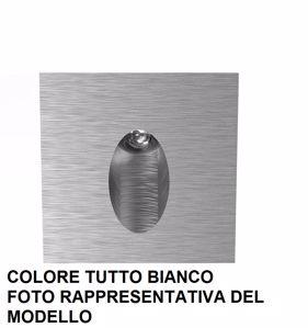 SEGNAPASSO LED 1W 2700K DA INCASSO METALLO BIANCO QUADRATO FASCIO LUCE RADENTE