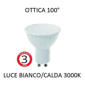 TOPLIGHT LAMPADINA LED GU10 5W 3000K BIANCA 430LM OTTICA 100 GRADI