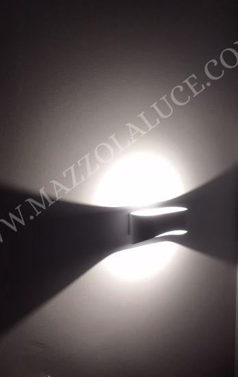 ISYLUCE APPLIQUE LED 20W 4000K METALLO BIANCO PER INTERNI MODERNA