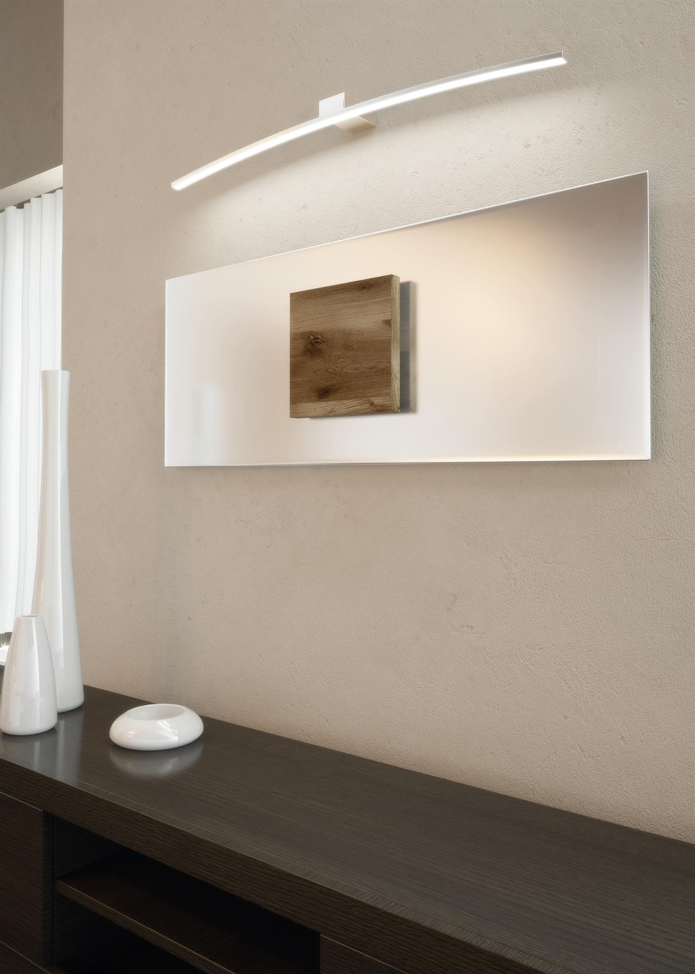 Specchio Bagno Bianco.Applique Da Bagno Bianco 70cm 11 2w 4000k Ip20 Top Light Curved