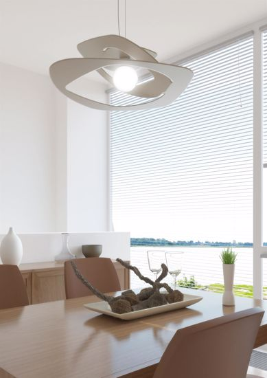 LAMPADARIO PER CUCINA MODERNA GRIGIO TOP LIGHT WARPED