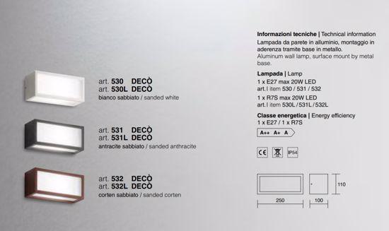 APPLIQUE DA ESTERNO LAMPADINA LED R7S BIANCO IP54 RETTANGOLARE MODERNA