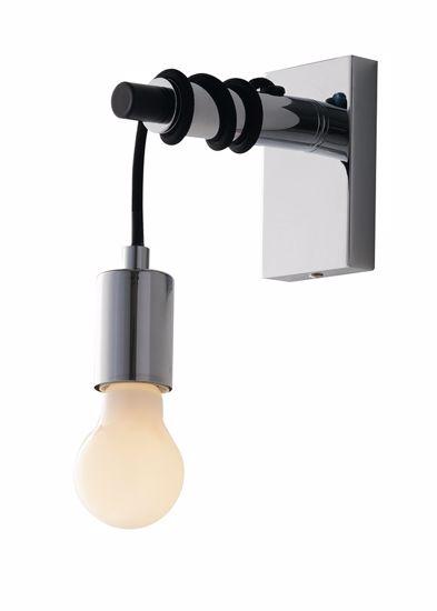 APPLIQUE LAMPADA DA PARETE LAMPADINA PENDENTE CROMO LUCIDO
