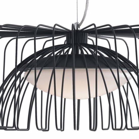 LAMPADARIO DESIGN LED 24W 4000K NERO PER CUCINA MODERNA