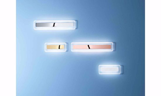 APPLIQUE LED DESIGN MODERNA DA PARETE LINEA LIGHT ANTILLE ORO
