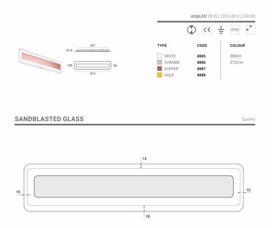 LINEA LIGHT ANTILLE COPPER APPLIQUE LED 28W 3000K RAME