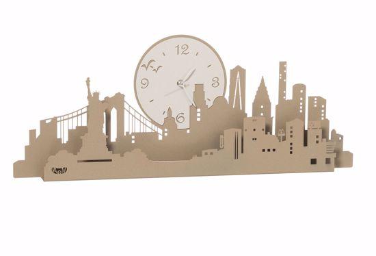 ARTI E MESTIERI NEW YORK GRANDE MELA OROLOGIO DA MURO MODERNO METALLO BEIGE AVORIO