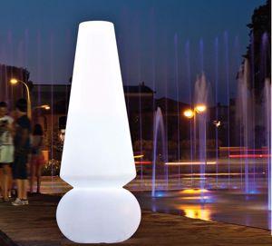 LINEA LIGHT MARGE GRANDE LAMPADA DA TERRA MODERNA PER GIARDINO ESTERNO LED 36W RGB