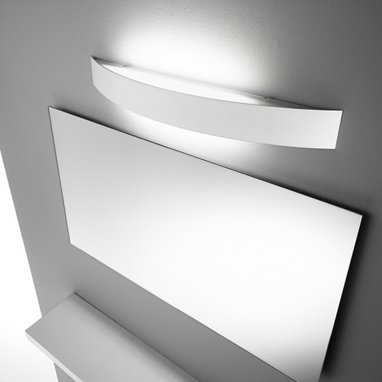 APPLIQUE LED DA PARETE BIANCO LINEA LIGHT CURVE''