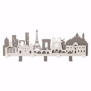 ARTI E MESTIERI PARIS CITY APPENDIABITI DA PARETE MODERNO METALLO FANGO E AVORIO