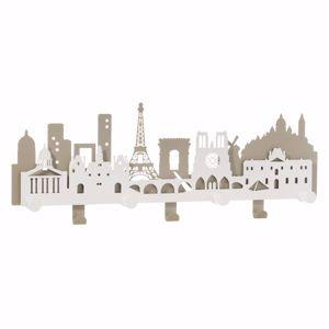 ARTI E MESTIERI PARIS CITY APPENDIABITI DA PARETE PARIGINO METALLO SABBIA E BIANCO MARMO