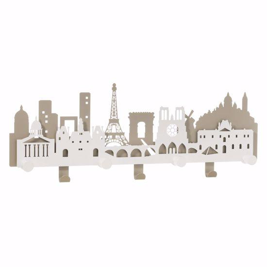 PARIS CITY APPENDIABITI DA PARETE METALLO SABBIA BIANCO