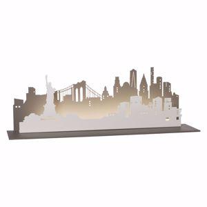 ARTI E MESTIERI MENSOLA CONSOLLE DA INGRESSO NEW YORK CITY ARDESIA E BIANCO MARMO