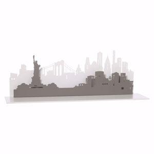 ARTI E MESTIERI MENSOLA CONSOLLE DA INGRESSO NEW YORK CITY BIANCO MARMO E ARDESIA