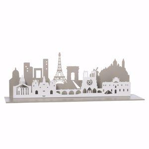ARTI E MESTIERI MENSOLA CON PANORAMA PARIGINO PARIS CITY SABBIA E BIANCO MARMO