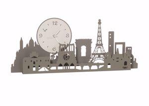 ARTI E MESTIERI OROLOGIO DA MURO TOUR EIFFEL PARIS CITY FANGO E AVORIO MODERNO