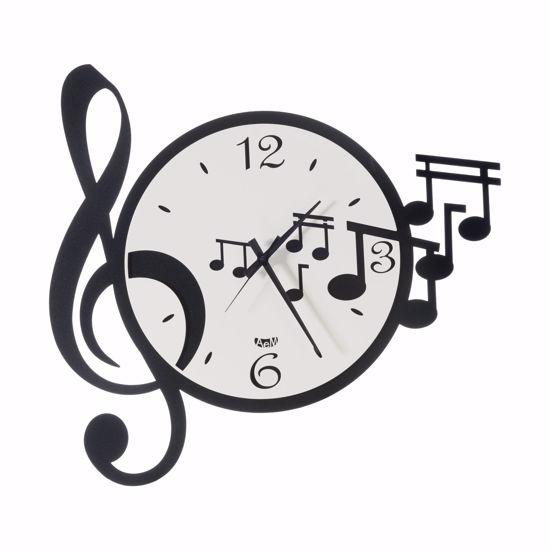 ARTI E MESTIERI NOTE MUSICALI OROLOGIO DA MURO MODERNO BIANCO E NERO