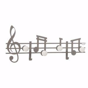 ARTI E MESTIERI APPENDIABITI DA PARETE MODERNO ARDESIA NOTE MUSICALI