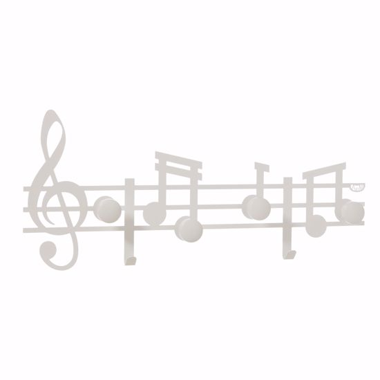 ARTI E MESTIERI APPENDIABITI DA PARETE MODERNO BIANCO NOTE MUSICALI DA INGRESSO