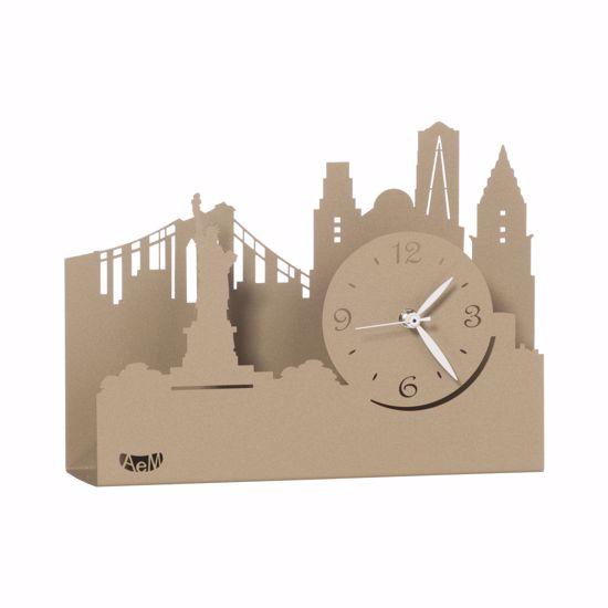 ARTI E MESTIERI NEW YORK CITY OROLOGIO DA TAVOLO BEIGE DESIGN MODERNO