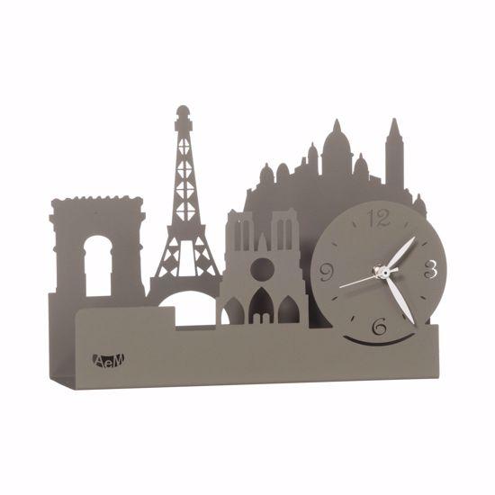 ARTI E MESTIERI PARIS CITY OROLOGIO DA TAVOLO DESIGN MODERNO FANGO