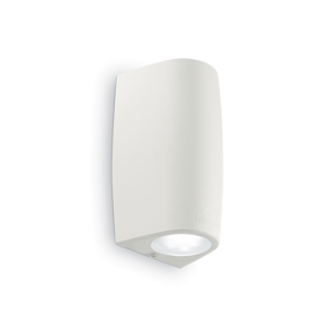 APPLIQUE DA ESTERNO MODERNO BIANCO 1 LED GU10 4,5W INCLUSE