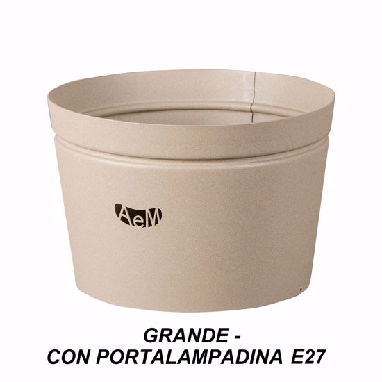 ARTI E MESTIERI VASO PORTA LAMPADA GRANDE METALLO BEIGE