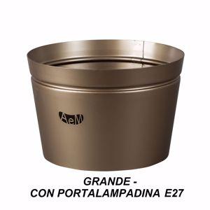 ARTI E MESTIERI VASO PORTA LAMPADA GRANDE METALLO BRONZO
