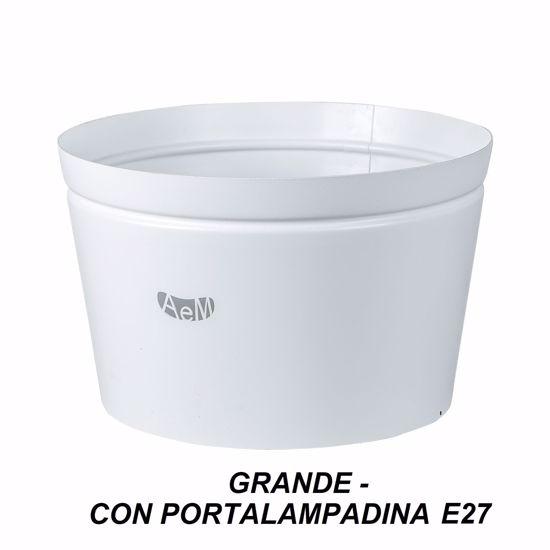 ARTI E MESTIERI VASO PORTA LAMPADA GRANDE METALLO BIANCO