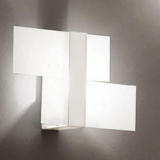 APPLIQUE TRIAD MODERNA BIANCO DESIGN LAMPADA DA PARETE LINEA LIGHT