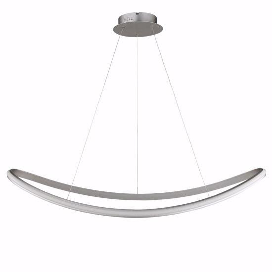 LAMPADARIO LED 55W 3000K DESIGN MODERNO SILVER PER SOGGIORNO