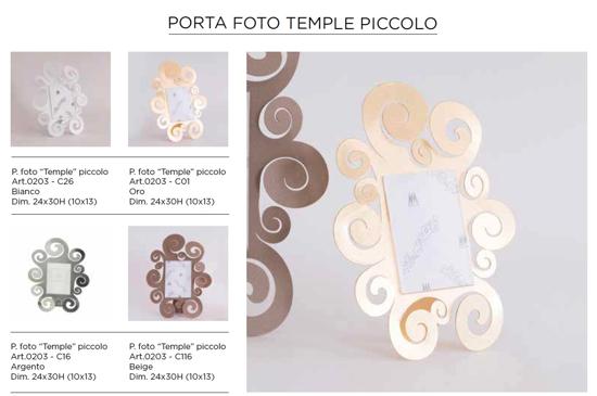 PORTAFOTO PICCOLO TEMPLE 24X30 IN METALLO BEIGE ARTI E MESTIERI