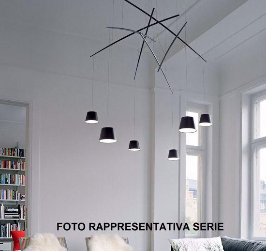 LAMPADARIO FISH SP3 IDEAL LUX NERO DESIGN MODERNO LED 18W 3000K