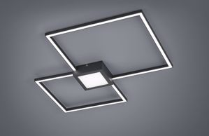 PLAFONIERA ANTRACITE QUADRATI LED DIMMERABILE 28W 3000K DESIGN MODERNA
