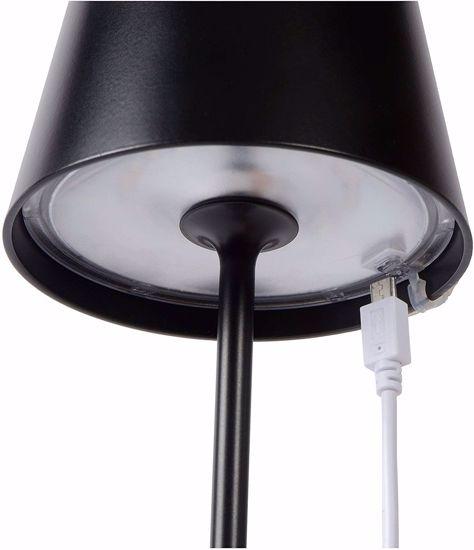 LAMPADA DA TAVOLO ESTERNO PORTATILE LED RICARICABILE TOUCH NERO IP54 2.2W 3000K