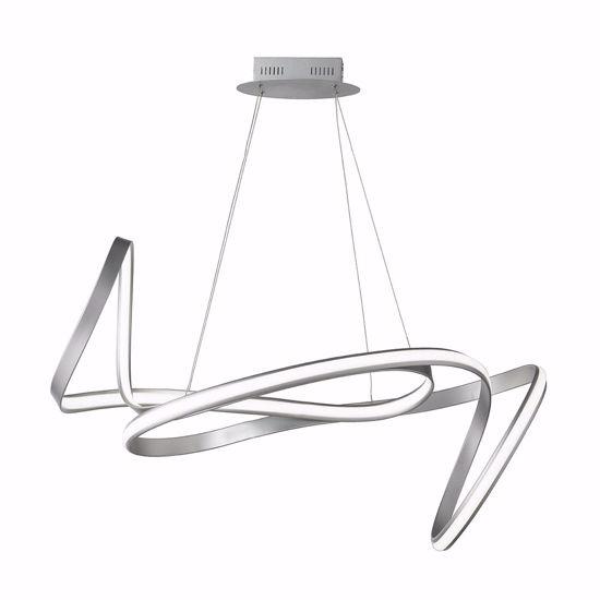 LAMPADARIO SILVER DESIGN ORIGINALE MODERNO LED DIMMERABILE PER SOGGIORNO