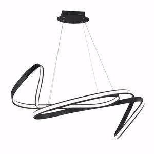 LAMPADARIO NERO MODERNO LED DIMMERABILE DESIGN PARTICOLARE PER SOGGIORNO