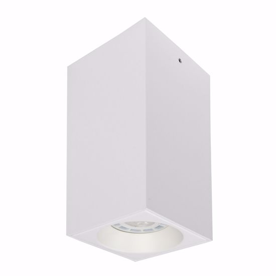 FARETTO LED DA SOFFITTO GU10 BATON LINEA LIGHT BIANCO SQUADRATO