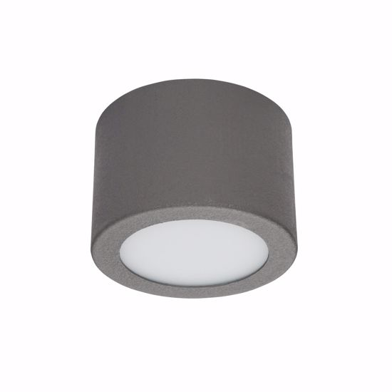 PLAFONIERA LED TONDA BOX LINEA LIGHT GRIGIO CEMENTO 7W 4000K