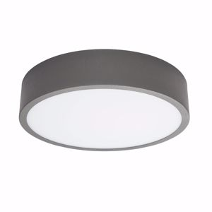 PLAFONIERA LED ROTONDA LINEA LIGHT BOX GRIGIO CEMENTO 17W 4000K