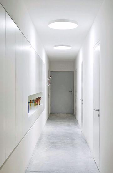 LINEA LIGHT BOX PLAFONIERA LED TONDA GRIGIO CEMENTO 48W 3000K