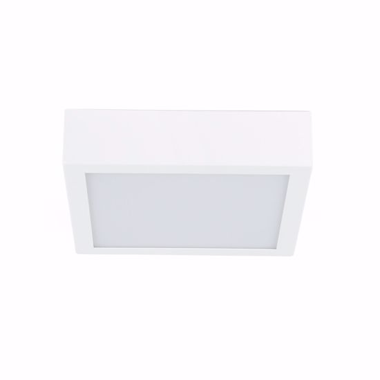PLAFONIERA LED BOX QUADRATA LINEA LIGHT MODERNA 17W 3000K PER SOGGIORNO