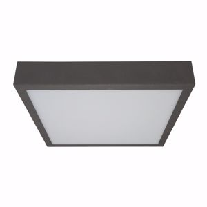 PLAFONIERA LED DA PARETE LINEA LIGHT BOX GRIGIO CEMENTO 31W 3000K