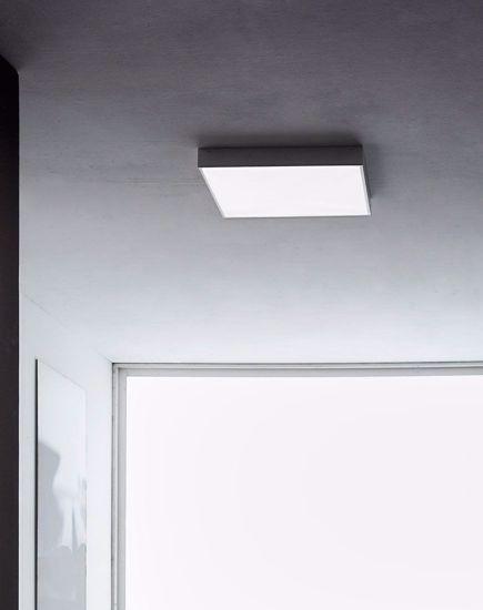 PLAFONIERA LED DA PARETE LINEA LIGHT BOX GRIGIO CEMENTO 31W 3000K