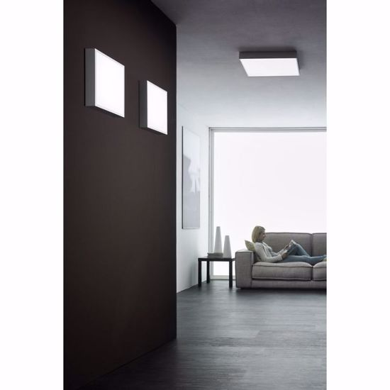 PLAFONIERA LED GRIGIO CEMENTO LINEA LIGHT BOX SQUADRATA 43W 3000K