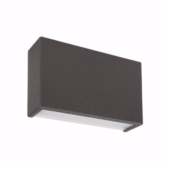 LINEA LIGHT APPLIQUE LED BOX GRIGIO CEMENTO 14W 3000K