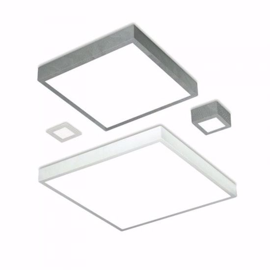 GRANDE PLAFONIERA LED GRIGIO CEMENTO QUADRATA 43W 4000K BOX  LINEALIGHT