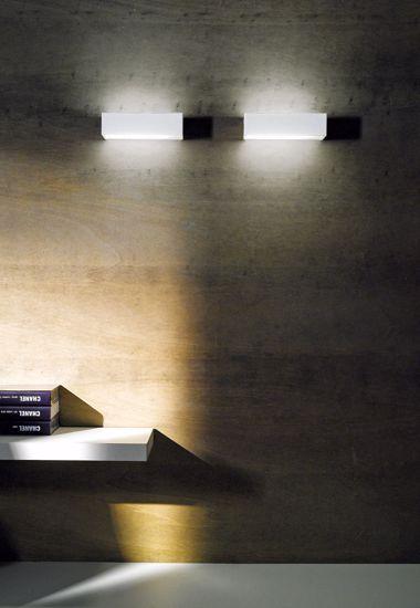 APPLIQUE LED 19W 4000K MODERNE LINEA LIGHT BOX BIANCA DOPPIO FASCIO DI LUCE