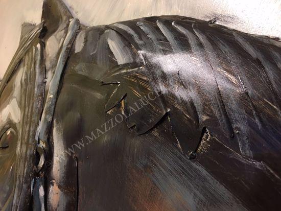QUADRO CAVALLI 3D IN METALLO ARTIGIANALE 80X120 DECORATIVO PROMOZIONE