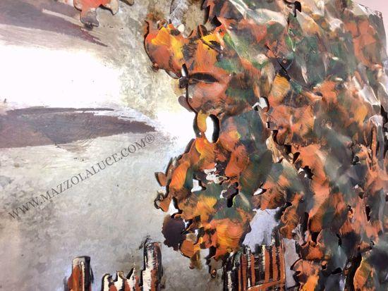 QUADRO MODERNO BIG BEN IN METALLO ARTIGIANALE 3D 120X80 PER SOGGIORNO